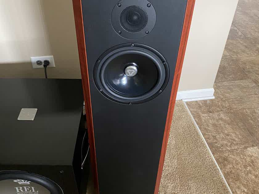 Kudos Audio Titan 707 Loudspeakers in Red Tineo (MINT and WARRANTY)