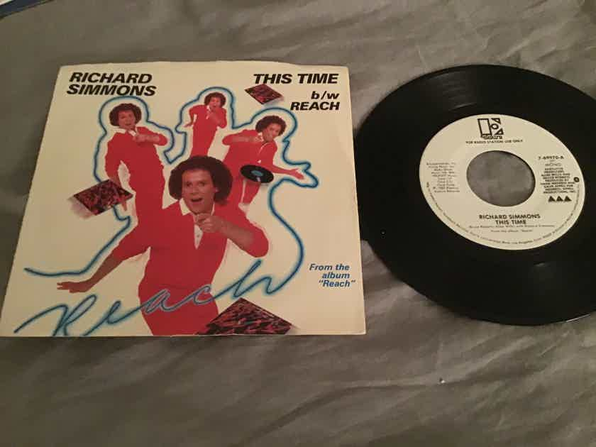 Richard Simmons Promo Mono/Stereo 45 With Picture Sleeve  This Time
