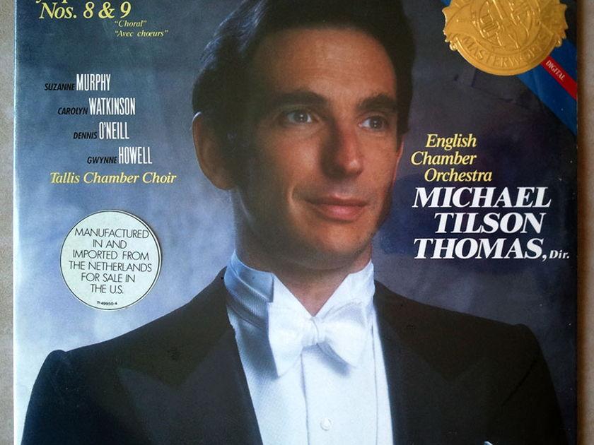 Sealed CBS Digital   TILSON THOMAS/BEETHOVEN - Symphonies Nos. 8 & 9 / 2-LP / Imported Pressing