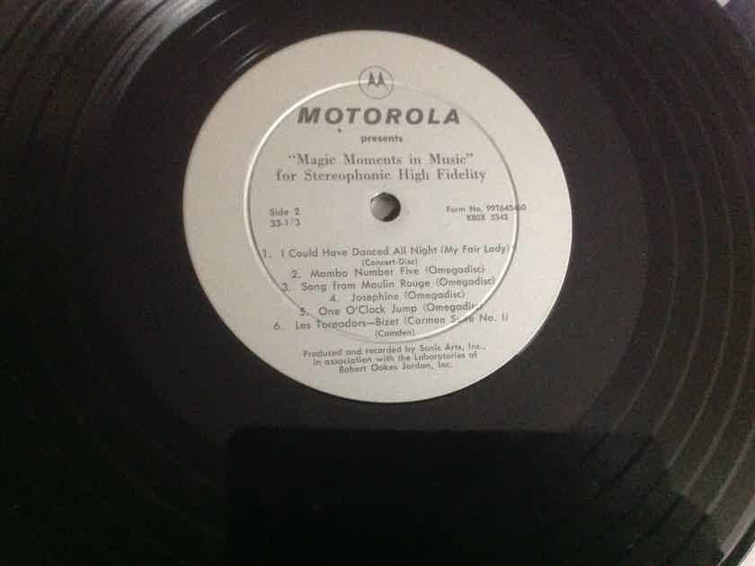 Various  Motorola Progress In Sound Rare 10 Inch Vinyl
