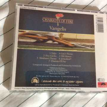 Vangelis - Chariots Of Fire Polydor Records Red Face Co...