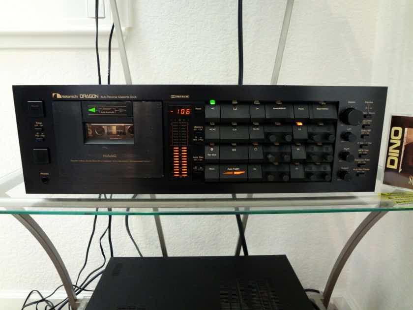NAKAMICHI DRAGON the Legendary Audiophile auto-reverse cassette deck-Excellent