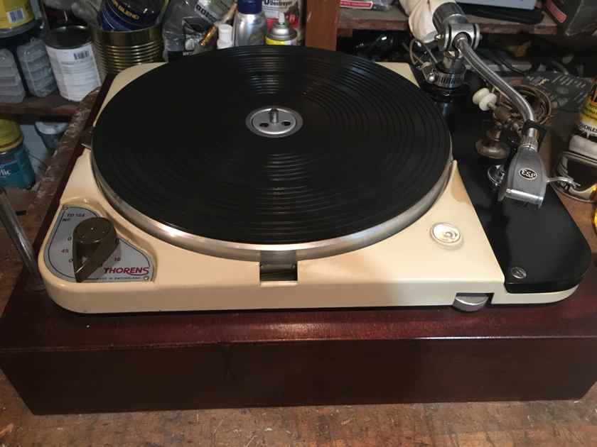 Thorens TD-124 Turntable Ortofon ESL Tonearm Early & Original AS-IS
