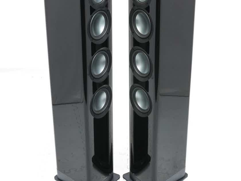 ELAC Navis F51 Powered Floorstanding Speakers; ARF-51GB; Gloss Black Pair (Demo) (25832)