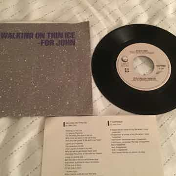 Yoko Ono Walking On Thin Ice 45 With Picture Sleeve