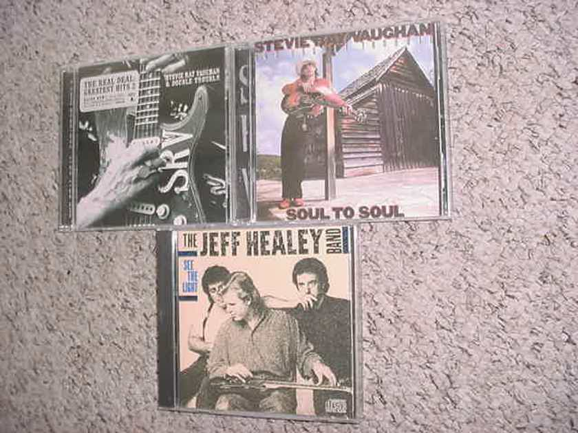 CD LOT OF 3 CD'S 2 Stevie Ray Vaughan 1 Jeff Healey band