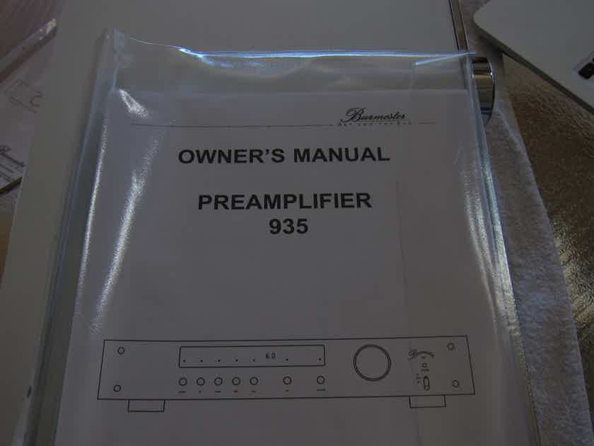 Burmester 935 mkII ABSOLUTELY MINT - AS NEW - WITH PHONO