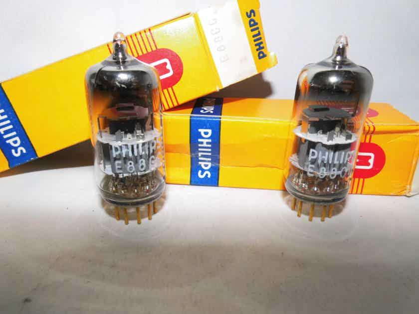 Philips E88CC 6922 NOS NIB AUDIO matched pair premium plus TUBES