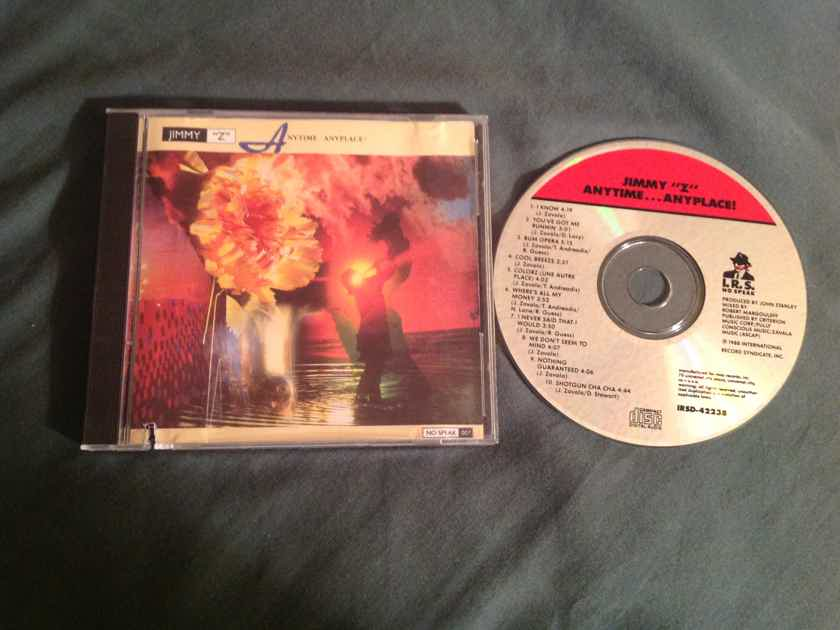 Jimmy Z Anytime Anyplace No Speak/I.R.S. Records