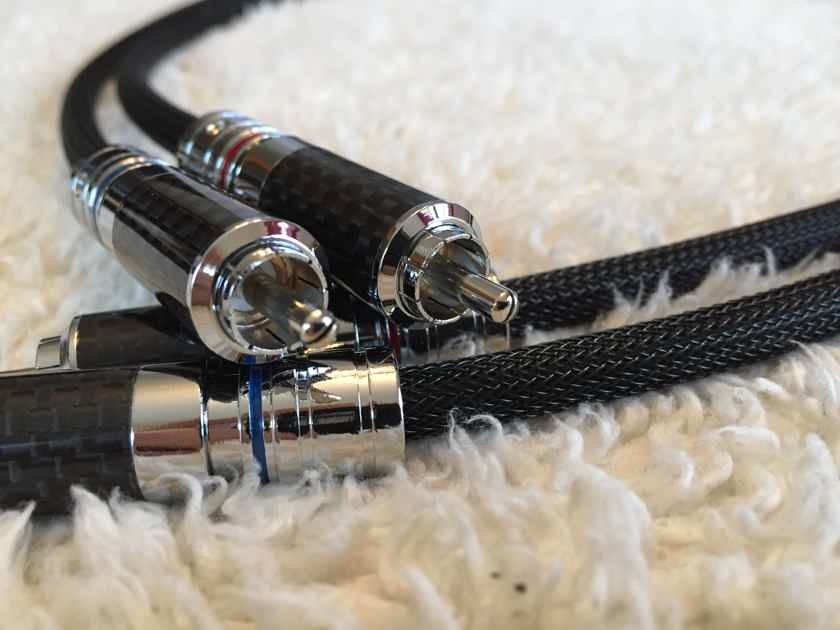 Schmitt Custom Audio Rhodium/Mogami W2549 Locking RCA Interconnects 1 meter 1 pair