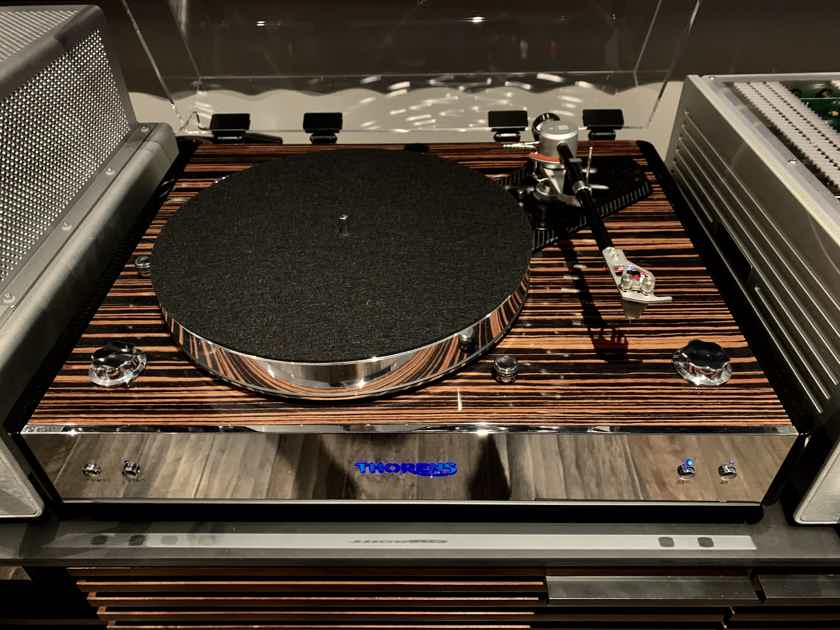 Thorens TD-550 Turntable in Macassar with Thorens TEP302 Phono Pre Amp, Vertere SG-I Tonearm, and Acoustical System Fidelis MM cartridge