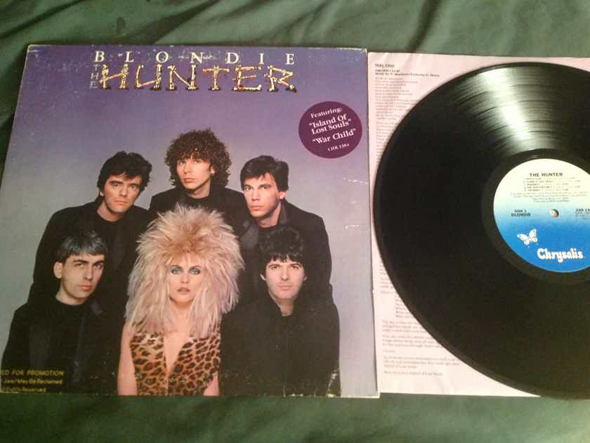 Blondie  The Hunter Chrysalis Records Hyper Sticker Front Cover