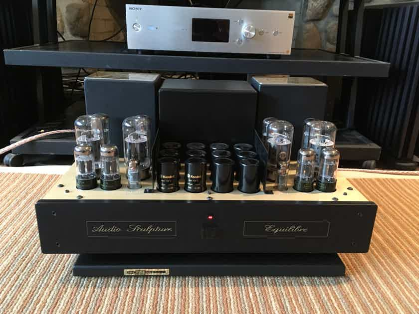 Audio Sculpture Equilibre Tube Amplifier, Rare, Made in France like Jadis