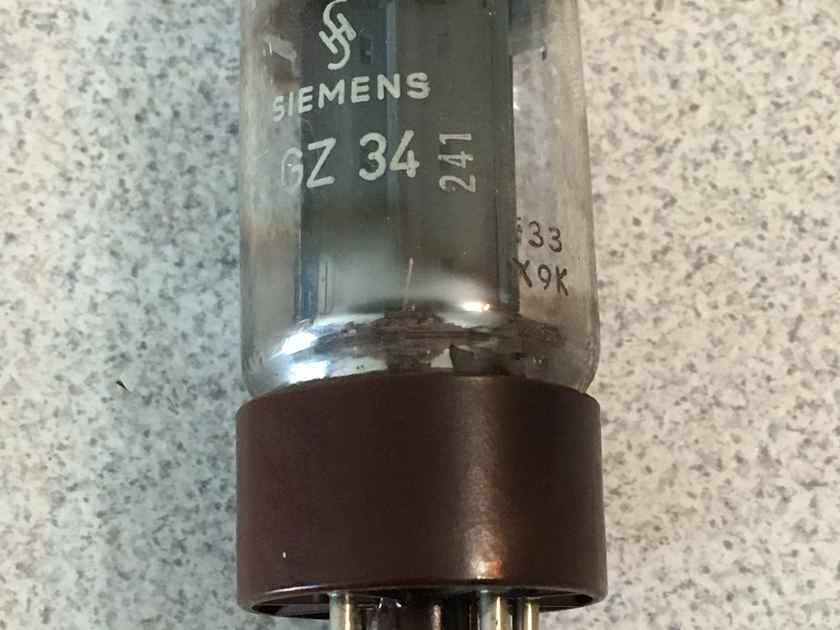 Siemens Germany f33 5AR4 GZ34 test NOS HOLY GRAIL