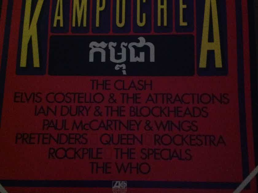 The Clash The Who Paul McCartney & Wings Queen - Concerts For The People Of Kampuchea  2 LP Set Atlantic Records Vinyl NM