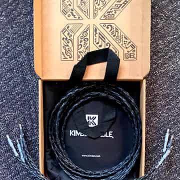 Carbon 8 Spk Cables Bananas  2.5m pr.