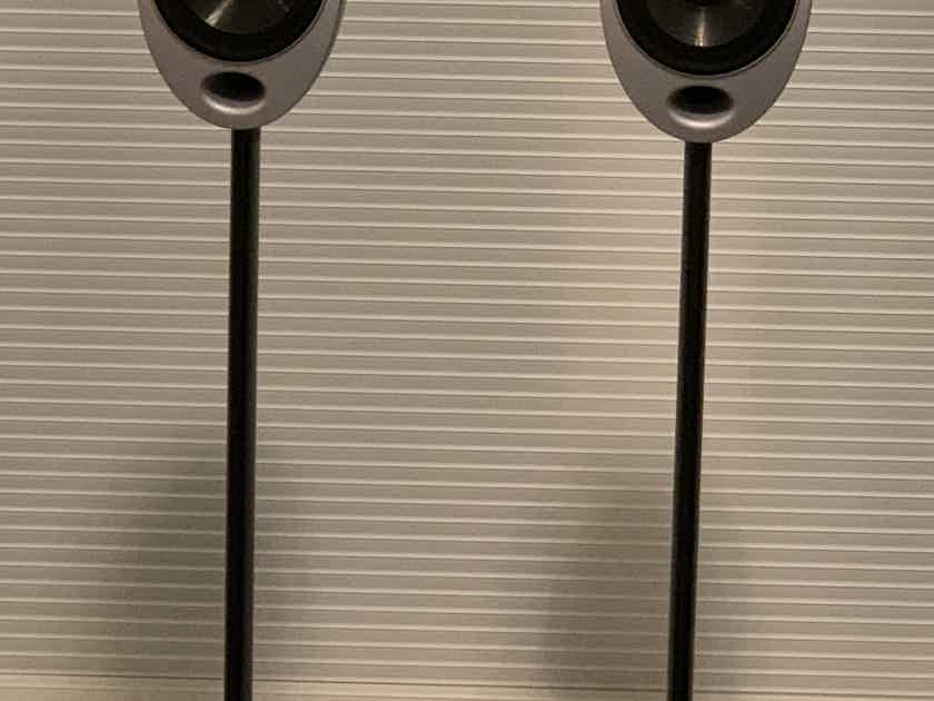 KEF HTS2001 Speakers - Each mounted on stands - PAIR