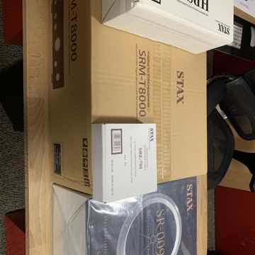 Stax T-8000 Black Amplifier and 009S Headphones New War...