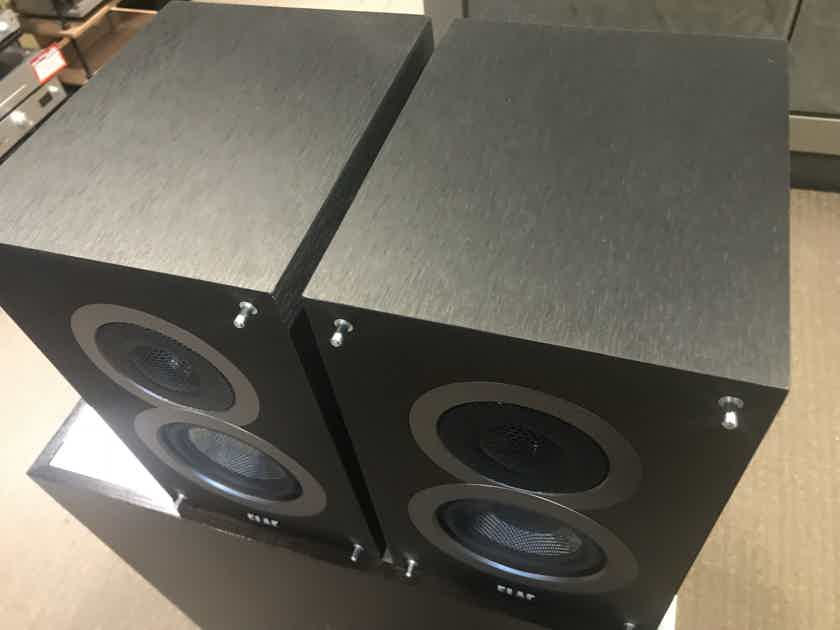 Elac Debut B4 Bookshelf Speakers - Black Satin Finish - DEMO