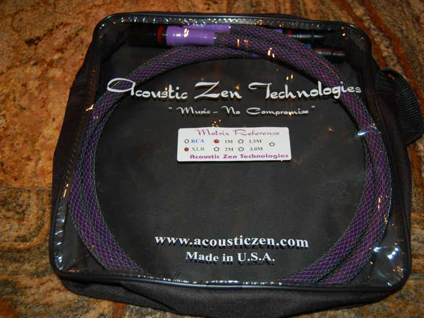 Acoustic Zen MATRIX (LATEST VERSION) XLR or RCA ONE METER