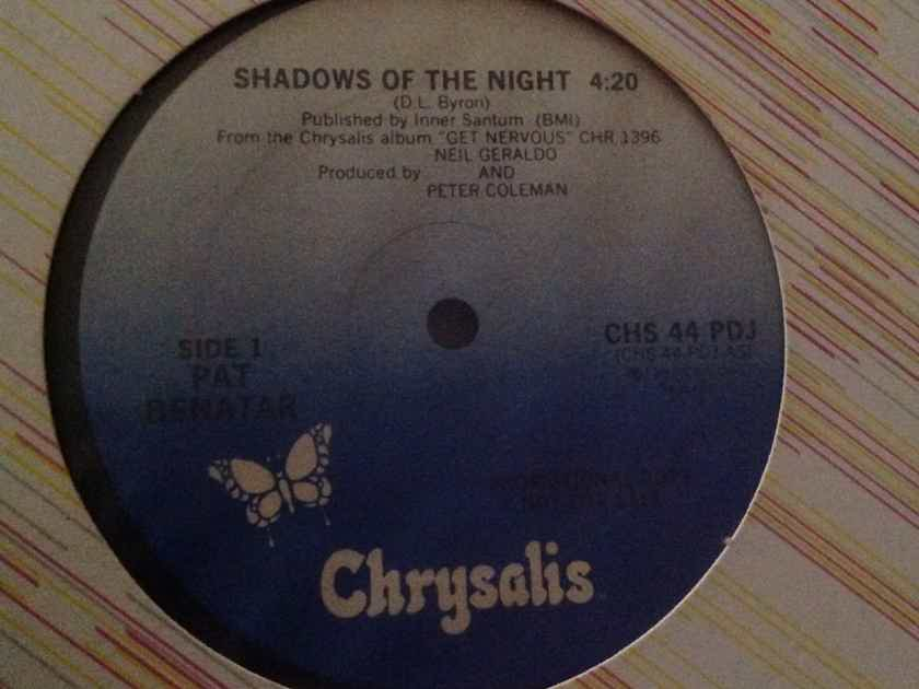 Pat Benatar - Shadows Of The Night Chrysalis Records Promo 12 Inch Single Vinyl NM