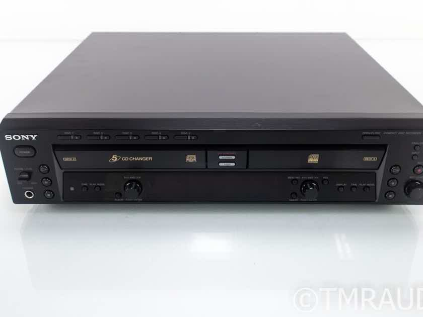 Sony RCD-W500C CD Player / Recorder; RCDW500C (18592)