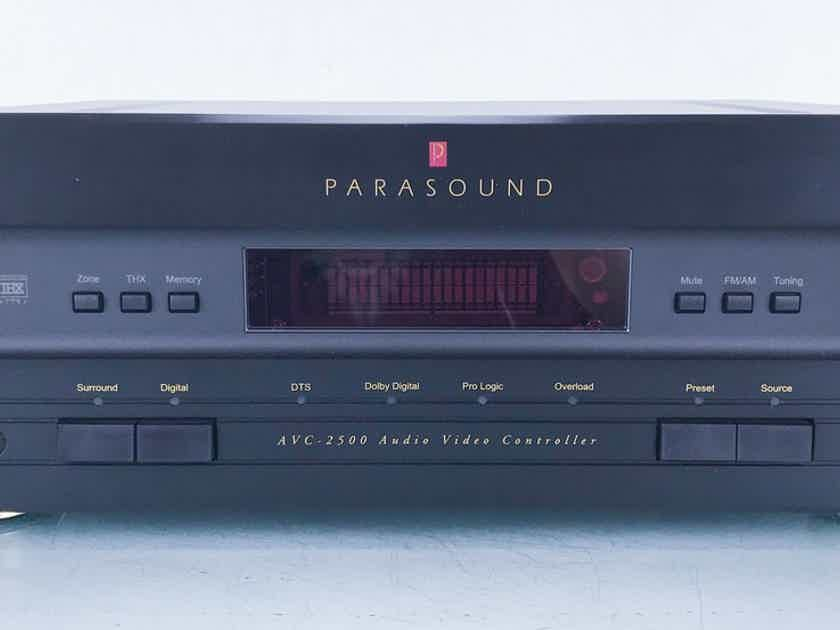 Parasound AVC-2500 5.1 Channel Home Theater Processor Less than one month (15366)