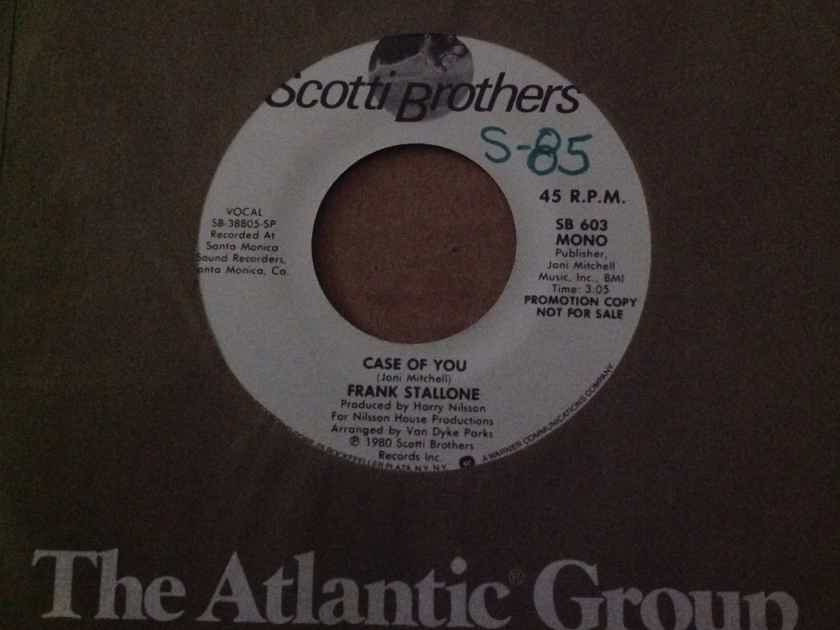Frank Stallone - Case Of You Scotti Brothers Records Promo Mono/Stereo 45 Vinyl NM