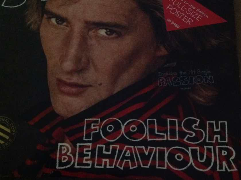 Rod Stewart - Foolish Behavior With Large Rod Stewart Poster Promo Stamp Front Cover LP NM
