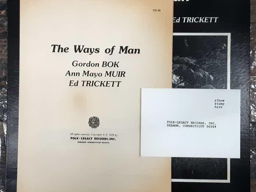 Gordon Bok, Ann Mayo Muir, Ed Trickett - The Ways Of Man 1978  Folk-Legacy Records FSI-68