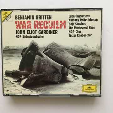Benjamin Britten John Eliot Gardiner War Requiem Cd set 4d audio Deutsche Grammophon 1993