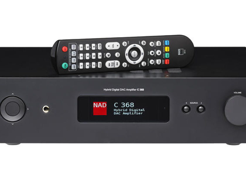 NAD C 368BluOs DAC/Amplifier, Now Streaming MQA!