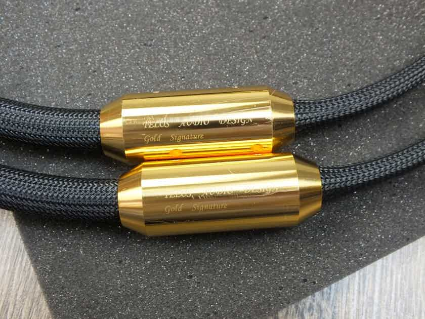 Telos Audio Design Gold Reference Signature interconnects 1,0 metre