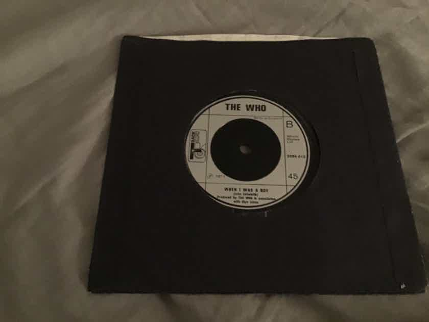 The Who Let's See Action/When I Was A Boy UK 45 NM