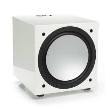Silver W12 Subwoofer (White Gloss):