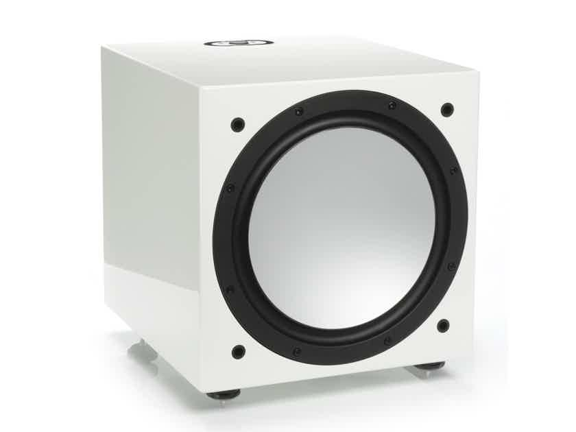 MONITOR AUDIO Silver W12 Subwoofer (Discontinued 5G - Gloss White): NEW; 5 Yr. Warranty; 57% Off - LAST ONE!!!