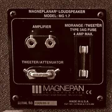 Magneplanar Magnepan 1.7 w/ MYE stands