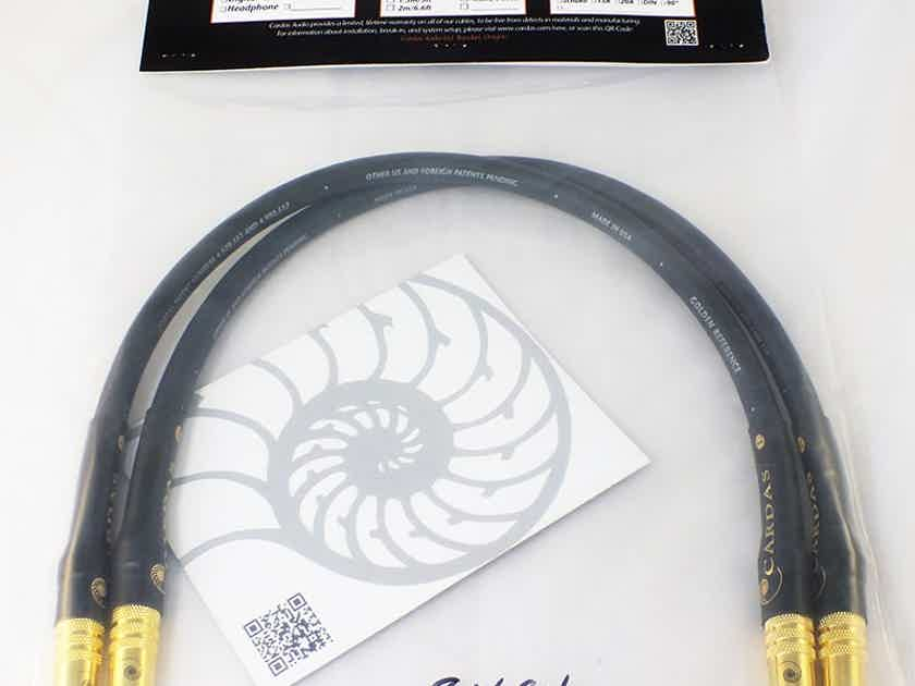 CARDAS Golden Reference Interconnect Cables (0.5M XLR or RCA): NEW-In Bag; Certificate of Authenticity; 60% Off