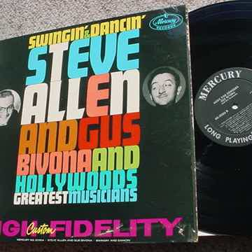 Steve Allen and Gus Bivina lp record swingin & dancin hollywoods greatest musicians