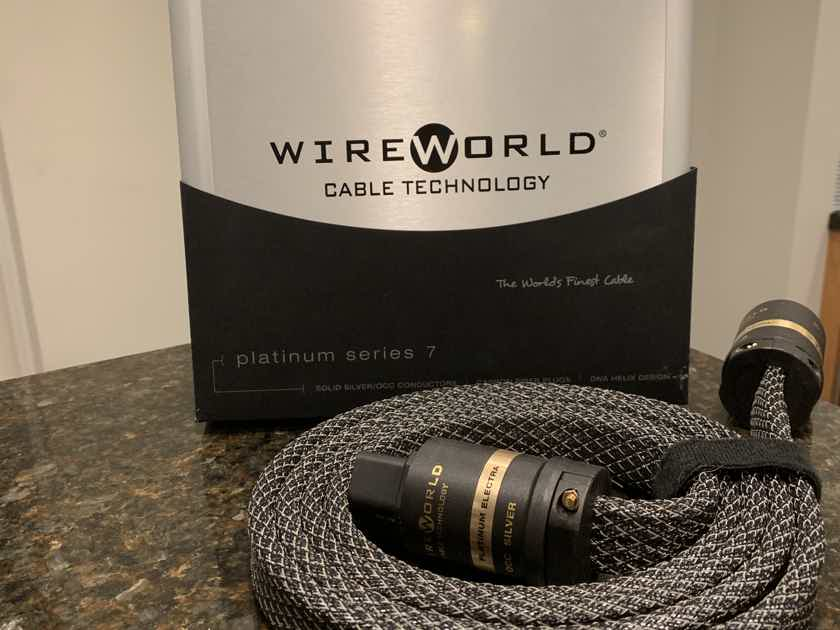 Wireworld Platinum Electra 7 Power Cord/20amp/2 Meter