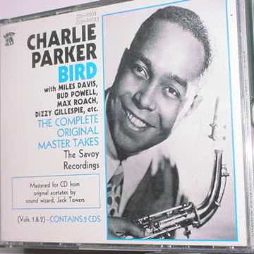 JAZZ Charlie Parker cd lot of 3 cd's includes master takes savoy recordings 2 cd set