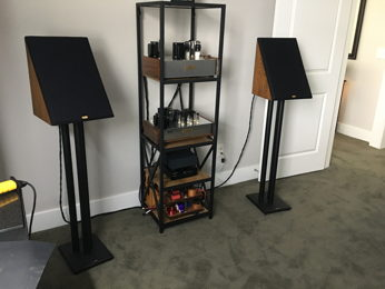 Spica TC50 sings again in Grannyring's DIY second system - in small office