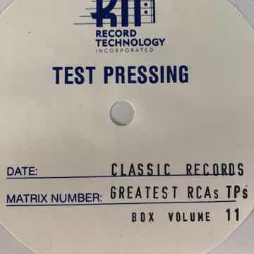 Sealed test pressings  boxset