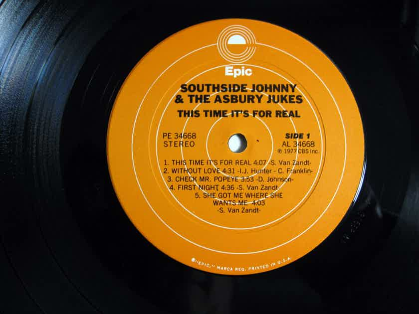 Southside Johnny And The Asbury Jukes - This Time It's For Real - 1977 1st Press Epic PE 34668