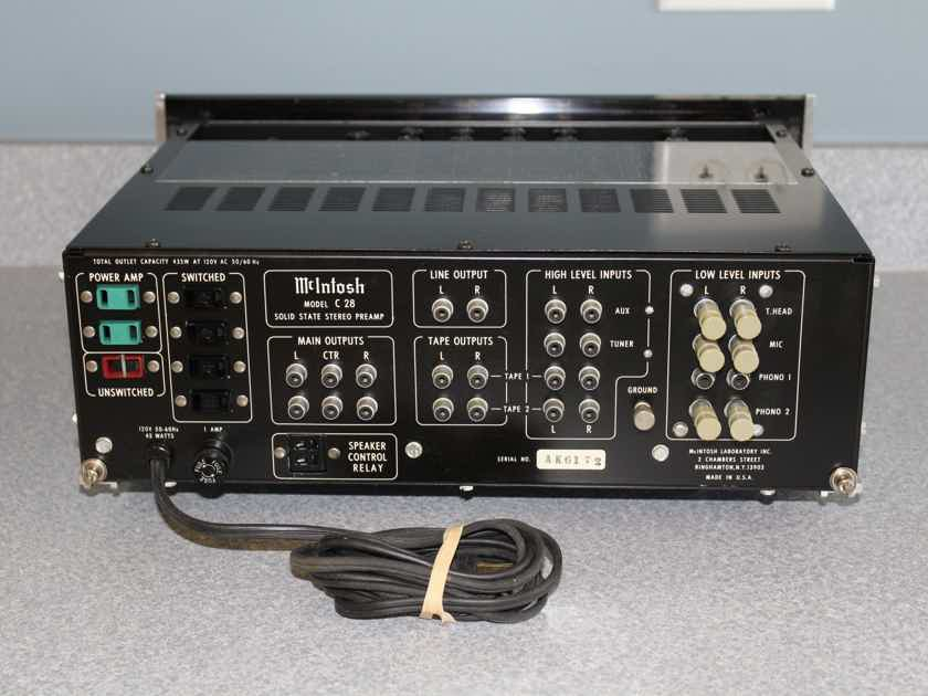 McIntosh C28 stereo preamplifier circa 1970s - GORGEOUS SUPERIOR TOP EXAMPLE