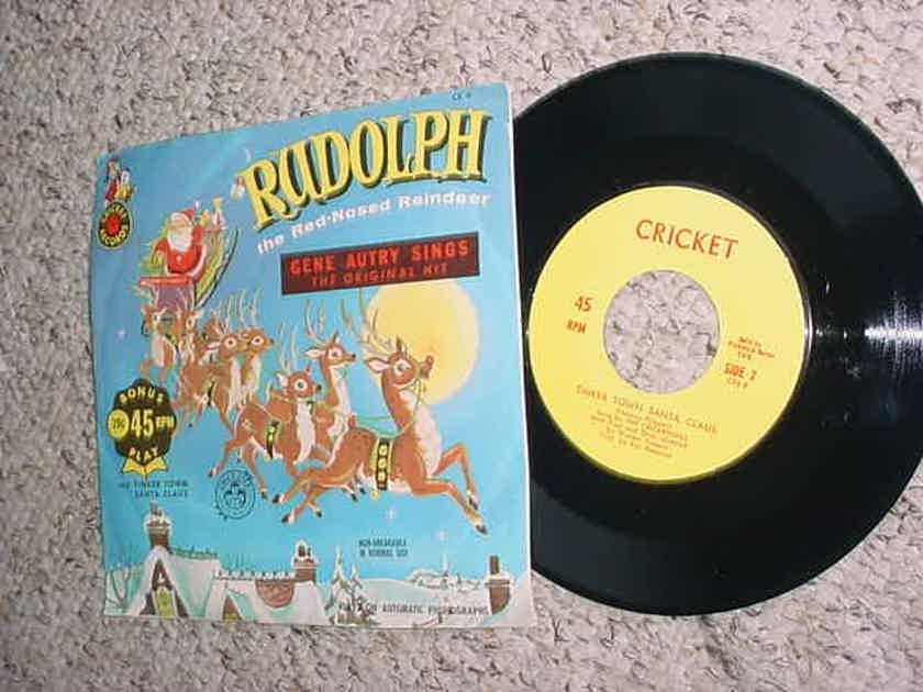 Gene Autry Sings 45 Rpm Record Rudolph The Red Nose