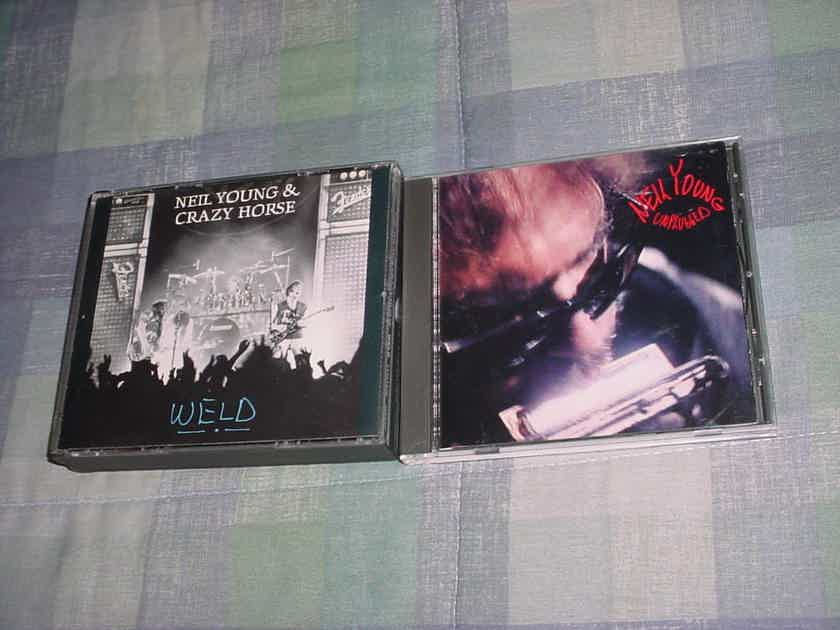 Neil Young 2 cd's WELD double cd set and unplugged