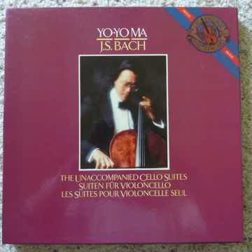 BACH UNACCOMPANIED CELLO SUITES YO YO MA AS NEW