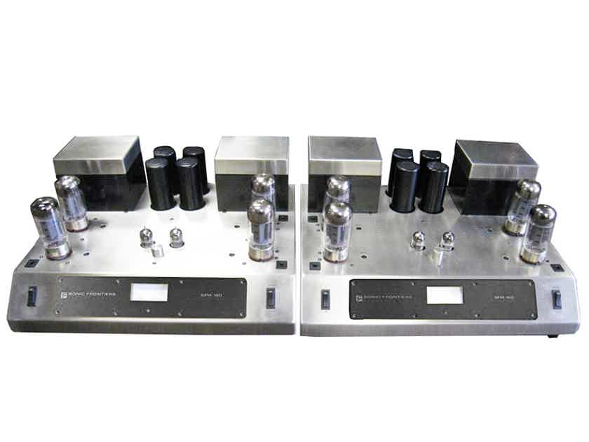 SONIC FRONTIERS SFM-160 Mono Block Tube Amps (Black): Excellent Refurb; 1 Yr. Warranty; 60% Off; Free Shipping