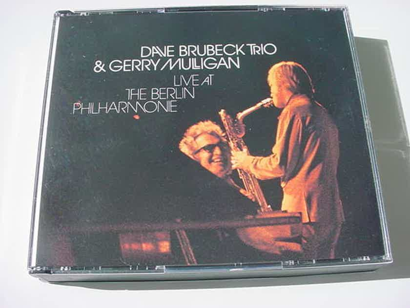 DOUBLE CD SET JAZZ - Dave Brubeck trio & Gerry Mulligan live at the Berlin Philharmonie